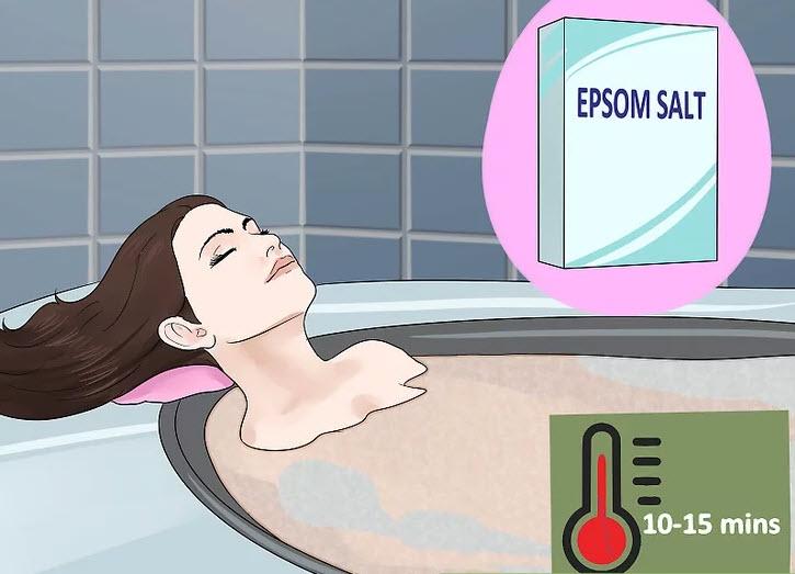 حمام آب گرم بگیرید